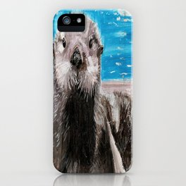 My Otter painting by Karen Chapman iPhone Case