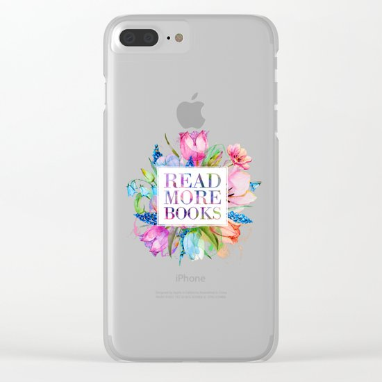 Read More Books Pastel Clear iPhone Case