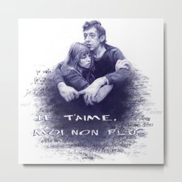 Je t'aime - Jane Birkin & Serge Gainsbourg Metal Print
