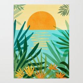 Tropical Ocean View / Landscape Illustration Poster