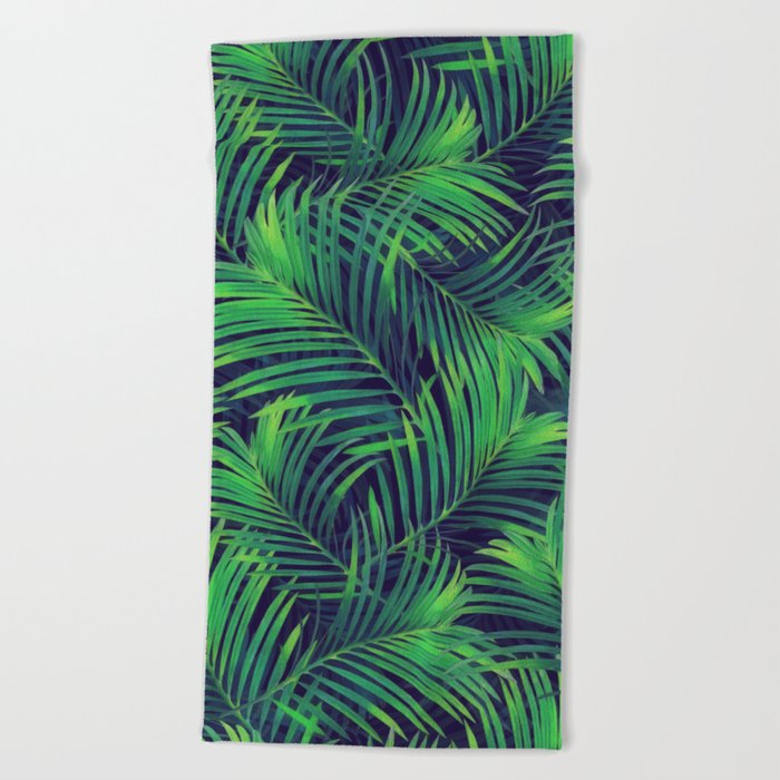 Palm leaves V Beach Towel