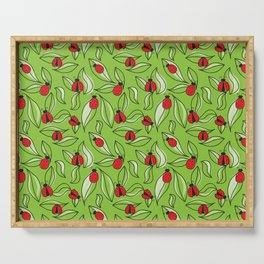 Ladybugs and Leaves Serving Tray