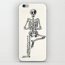 """""""Vrksasana"""" Skeleton Print iPhone Skin"""