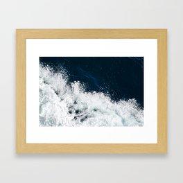 Painted waves, Malta Framed Art Print