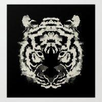 Rorschach Tiger Art Print