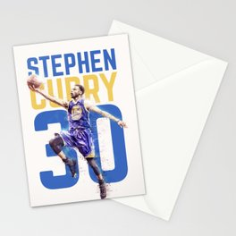 Steph Curry Warriors Stationery Cards