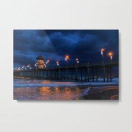 Winters Pier Metal Print