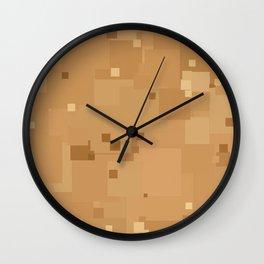 Desert Mist Square Pixel Color Accent Wall Clock