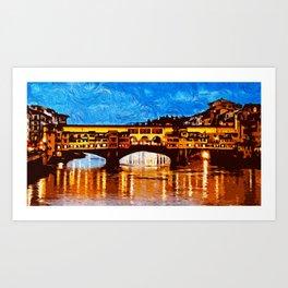 Florence, Ponte Vecchio Art Print