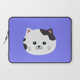 White Cat with spotted fur Laptop Sleeve