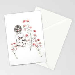 Baby's loves cat Stationery Cards