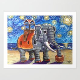 Starry Lu Art Print