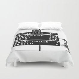 490 km to Strasbourg - The Polaroid Project Duvet Cover