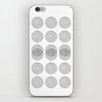 circles iPhone & iPod Skins featuring Circles by Catrin Eluned