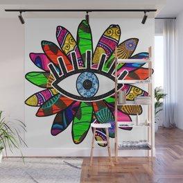 Greek Evil Eye Bright Flower Wall Mural