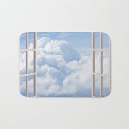 Blue and White Cumulonimbus Clouds Bath Mat
