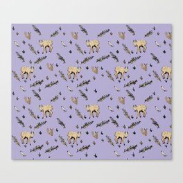 Woodland Creatures from an Imaginary Forest Canvas Print
