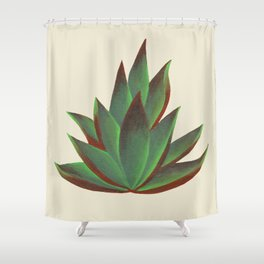 Red and Green Aloe Vera Plant Shower Curtain