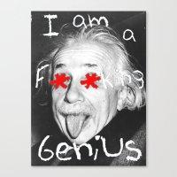 einstein Canvas Prints featuring Einstein  by Hijack:D