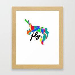 Fly Parkour Framed Art Print
