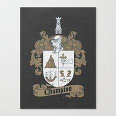 Champion Crest Canvas Print