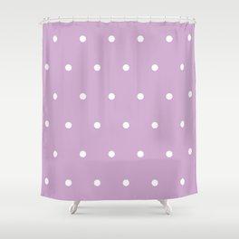 Polka Dots Lavender Lilac Purple Shower Curtain