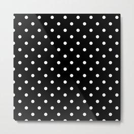 Polka dot black and white Metal Print
