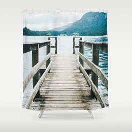 Jetty On Lake Shower Curtain