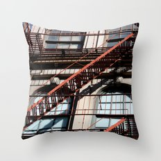 Between lines Throw Pillow