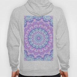 Beautiful Rose Blue Pastel Flower Mandala Hoody