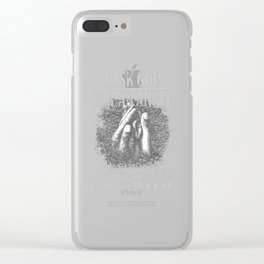 I Ask God For An Angel And He Sen Me My Daughter design Clear iPhone Case