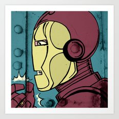 Armor Man Art Print