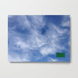 censored: cloud face with ufo Metal Print