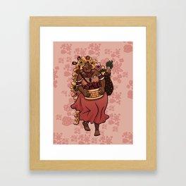 August Fairy Framed Art Print