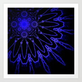 The Modern Flower : Blue Electricity Art Print