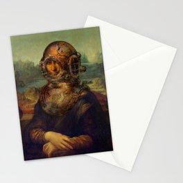Steampunk Mona Lisa - Leonardo da Vinci Stationery Cards
