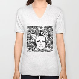 """PHOENIX AND THE FLOWER GIRL """"STEP BY STEP MOVING"""" SINGLE PRINT Unisex V-Neck"""