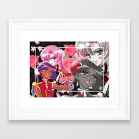 utena Framed Art Prints featuring Utena x Anthy by Neo Crystal Tokyo