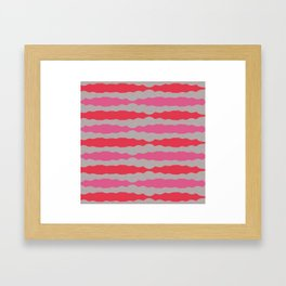 Candy Pink Retro Lines Framed Art Print