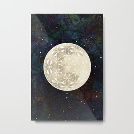 The Flower of Life Moon 2 Metal Print