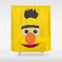 knit Shower Curtains featuring Knit Bert by colli1 3designs