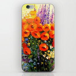 Bouquet of red poppies iPhone Skin
