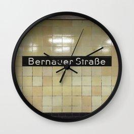 Berlin U-Bahn Memories - Bernauer Straße Wall Clock