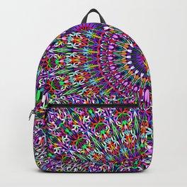 Vivid Lace Ornament Mandala Backpack