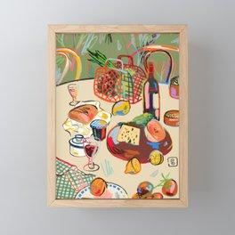 WINE BREAK Framed Mini Art Print