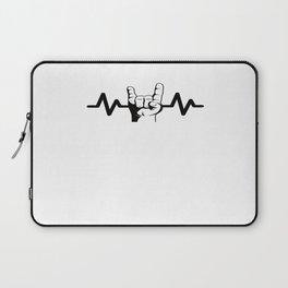 Heartbeat Rock And Roll Rock Star Laptop Sleeve