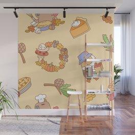 Bubu the Guinea pig, Fall and Pie Wall Mural