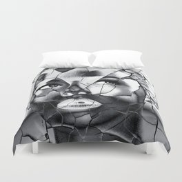 WOMAN IN BLACK WHITE Duvet Cover