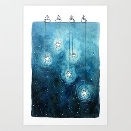 Fishing for Stars Art Print