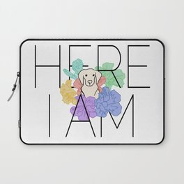 Here I Am - Flower Pup Laptop Sleeve